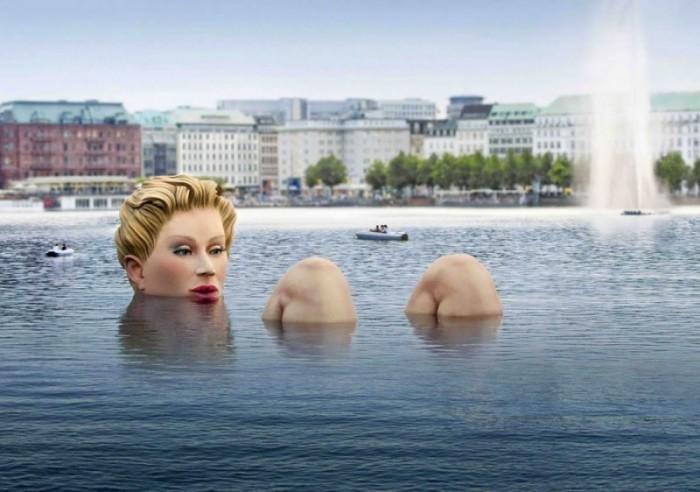 озеро Альстер в Гамбурге