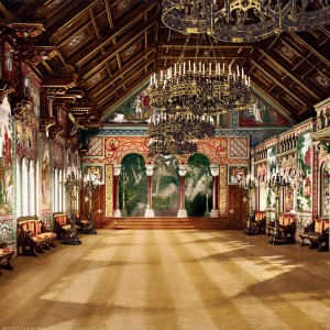 Внутри замока Нойшванштайн