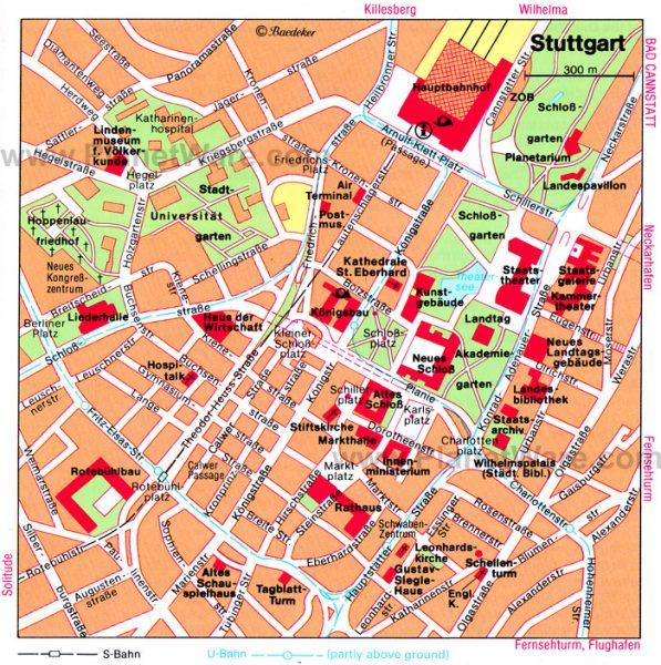 Карта Штутгарта