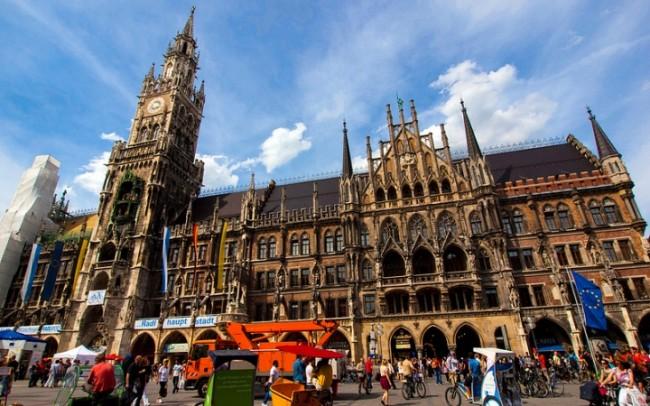 площадь Мариенплац Германия