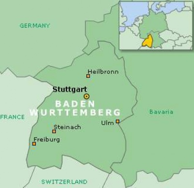 Баден-Вюртемберг карта