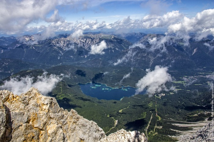 Цугшпитце гора германии