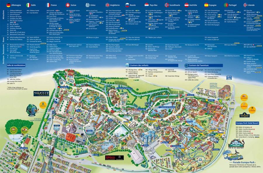 Карта Европа-парка