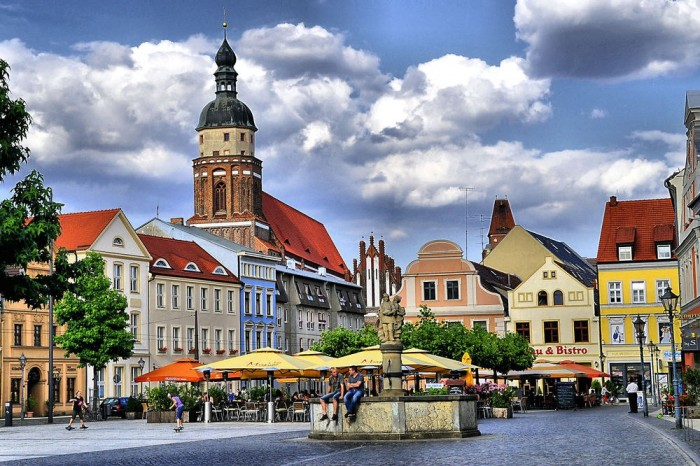 Котбус город в Бранденбурге