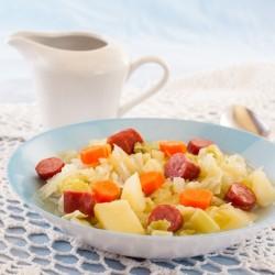Немецкий суп с колбасой