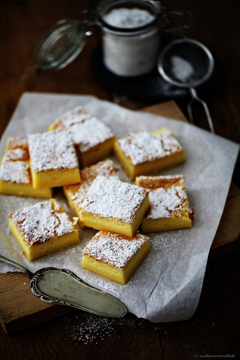 Deutsch Kuchen mit Vanillepudding