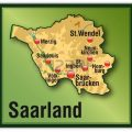Карта Саар Германия