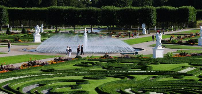 сад разрушенного замка Херренхаузен