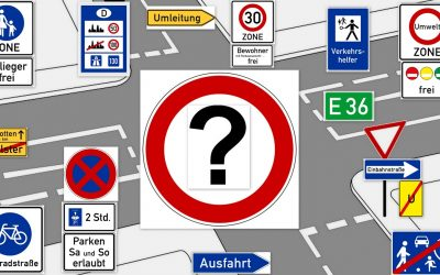 Дорожные знаки в германии