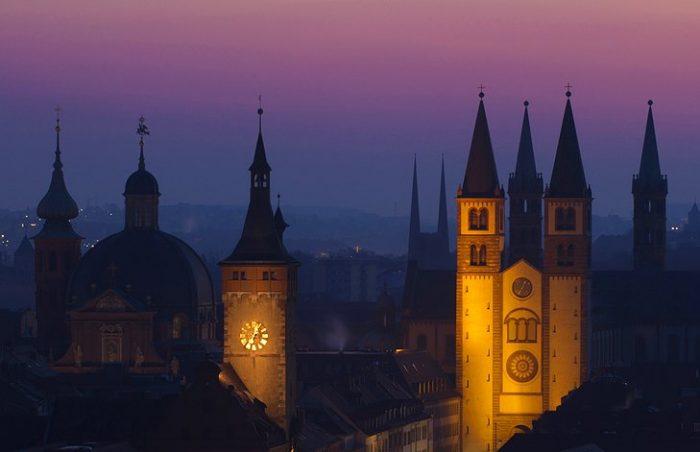 Вюрцбургский собор в Германии