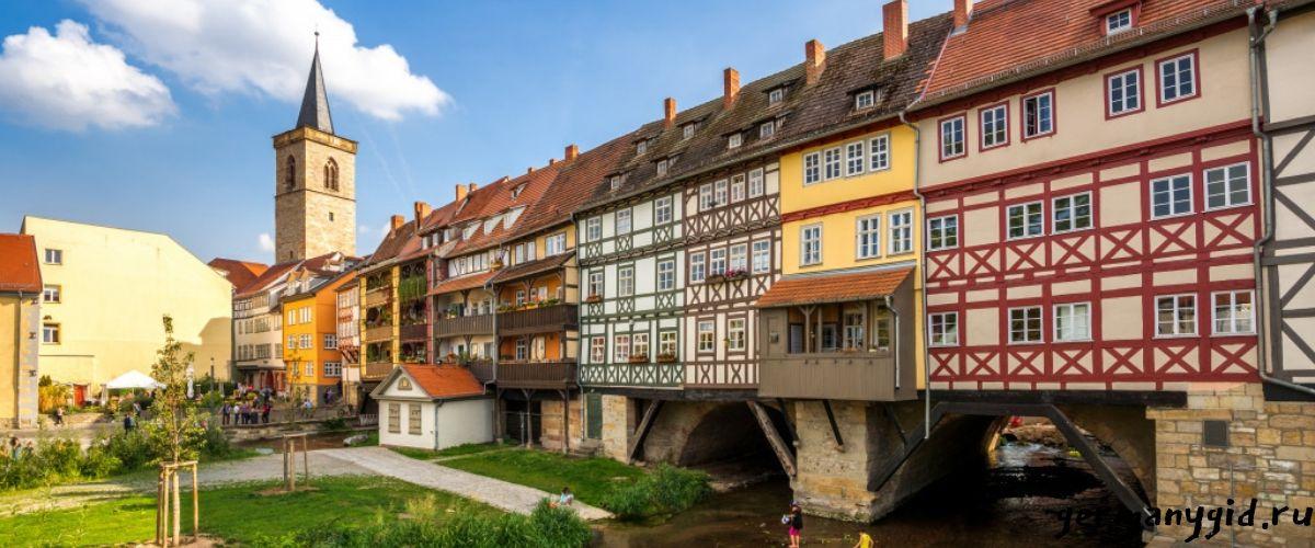 Krämerbrücke в Эрфурте