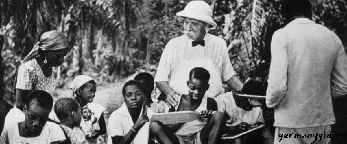 Альберт Швейцер в африке